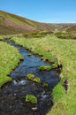 River in glenlivet estate scottish highlands landscape the highland mountains of the with the well of lecht mine the distance when Royalty Free Stock Images