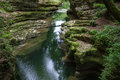River in gorge or ravine Stock Photos