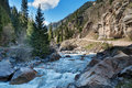 River in grigorevsky gorge chon ak suu is situated kilometers from cholpon ata city Stock Photos