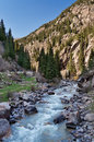 River in grigorevsky gorge chon ak suu is situated kilometers from cholpon ata city Royalty Free Stock Images