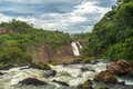 River iguazu massive waterfalls at brazil Royalty Free Stock Photos