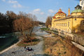 River isar in munich a view of the germany Royalty Free Stock Photos