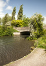 The river itchen winchester a stretch of clean waters of close to hampshire city of Royalty Free Stock Image