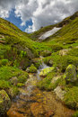 River in Kaimaktsalan Mountains Royalty Free Stock Photo