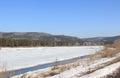 River Kan prepares autopsy. Krasnoyarsk Territory. Zelenogorsk Royalty Free Stock Photo