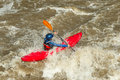 River kayaking rafting in kayak ecuador south america Royalty Free Stock Photography