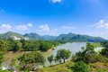 River kwai background mountain Stock Photo