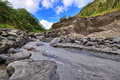 River with Lahar Stock Image