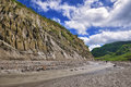 River with Lahar Royalty Free Stock Photo