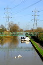 River lea scene from in london england on a sunny day Stock Photography
