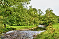 River meandering though lush English countryside Royalty Free Stock Photo