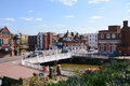 River medway flows under tonbridge high street in kent england april view of the and from castle on april pizza express the castle Royalty Free Stock Photo