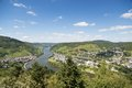 River Moselle near Bullay in Germany Royalty Free Stock Photography