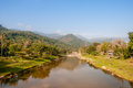 River and the mountain it is longest in nakhon si thammarat thadee it is bended by this Royalty Free Stock Photography