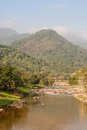 River and the mountain it is longest in nakhon si thammarat thadee it is bended by this Royalty Free Stock Image