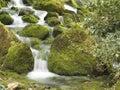 River mountain wiosny Fotografia Stock