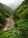 River in the mountains in japan japanese flowing through rocks Stock Images