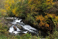 River in the mountains nantahala north carolina fall Royalty Free Stock Photo