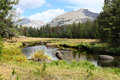 River in the mountains scenic view of wind range wyoming u s a Royalty Free Stock Photo