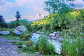 River in the mountains. Royalty Free Stock Photo