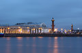 River neva vasilevsky island st petersburg russia night city christmas town nevsky prospekt the city nightlife palace bridge Stock Images