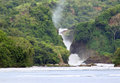 River nile with murchison falls the in uganda africa Royalty Free Stock Image