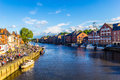 River Ouse in York on a sunny day, Yorkshire, England, United Kingdom Royalty Free Stock Photo