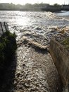 River overflow inlet photographed at exeter in devon Stock Photos