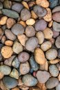 River pebbles stone texture and background Royalty Free Stock Photo