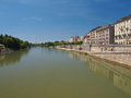 River po turin fiume in italy Royalty Free Stock Photos