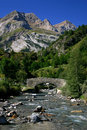 River in Pyrenees Mountains Royalty Free Stock Photo