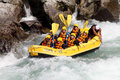 River rafting koboke tokusima japan august white water on the rapids of yosino on august in koboke canyon japan Royalty Free Stock Image