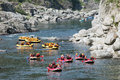 River rafting koboke tokusima japan august white water on the rapids of yosino on august in koboke canyon japan Stock Image