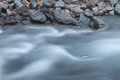 River and Rocks Long Exposure Stock Photos