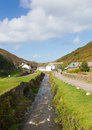 River running through Boscastle Cornwall England UK Royalty Free Stock Photo