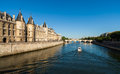 River seine the beautiful in paris france Royalty Free Stock Images