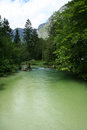River in slovenia sava bohinjka near bohinj lake Stock Image
