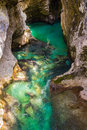 River Soca near Bovec, Slovenia Royalty Free Stock Photo