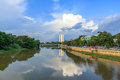 River sping at chiang mai city thailand Royalty Free Stock Images