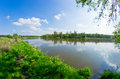 River during the spring time odra Stock Photo