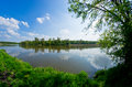 River during the spring time odra Stock Image