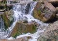 River stones waterfall Royalty Free Stock Photo