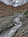 Mountains and Rivers of Ladakh Royalty Free Stock Photo