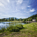 River teith callander scotland image of the shores of Royalty Free Stock Photos