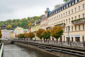River tepla karlovy vary embankment of in Royalty Free Stock Photos