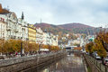 River tepla karlovy vary embankment of in Royalty Free Stock Images