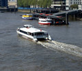 River Thames Boat Stock Photo