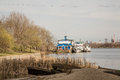 River trips on the boats moscow city district marino park named after moscows th anniversary april Stock Images
