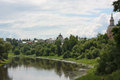 River Tvertsa in city of Torzhok Royalty Free Stock Images