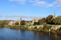 River Tweed at Kelso, Borders region, Scotland Royalty Free Stock Photo